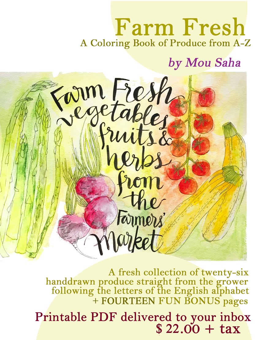 """Farm Fresh"" Printable Coloring Book"