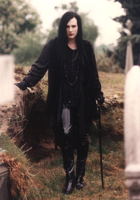 Black Victorian Gothic Blouse For Men