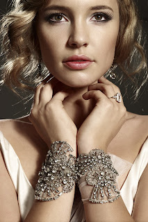 Crystal vintage styled bridal bracelets