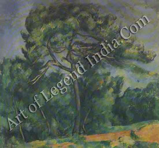"The Great Artist Paul Cezanne ""The Great Pine"" 1892-96 33"" x 36 ¼"" Museu de Arte, Sao Paulo, Brazil"