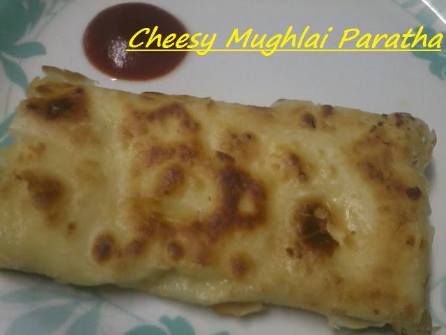 Cheesy Mughlai Paratha