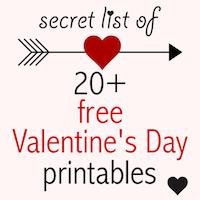 FREE printable Valentines: