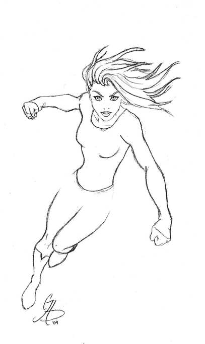 coloring pages superheroes women costume - photo#25