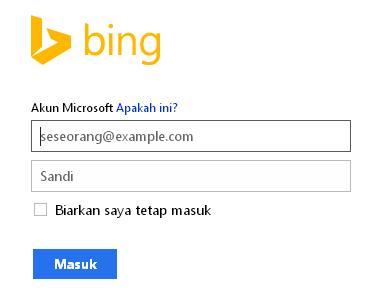 Login Bing