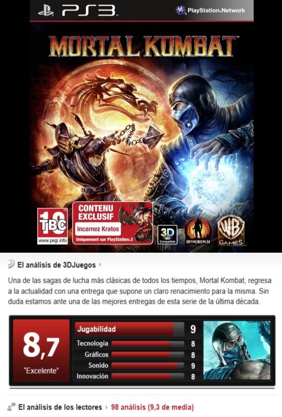 Mortal Kombat 9 -PS3-