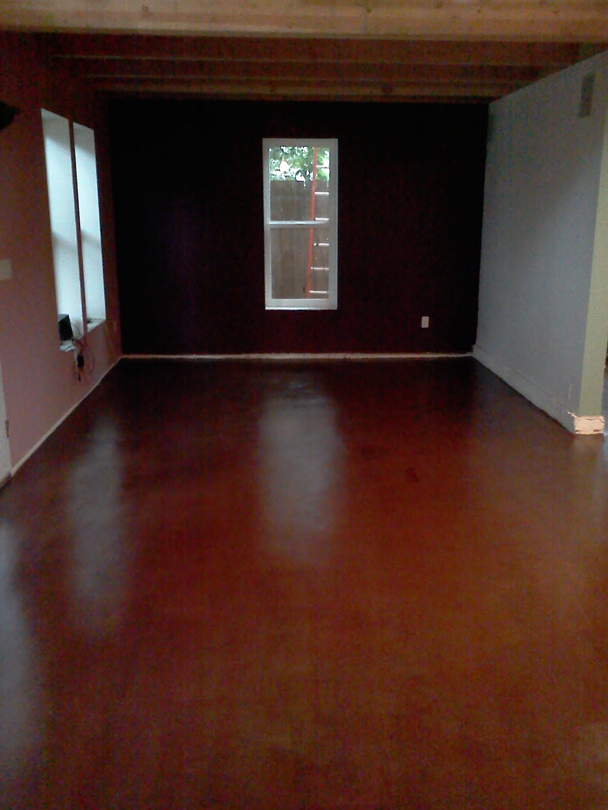 crafts flooring floor of final how diy stain design to thrifty mom tape a floors stained example recipes concrete