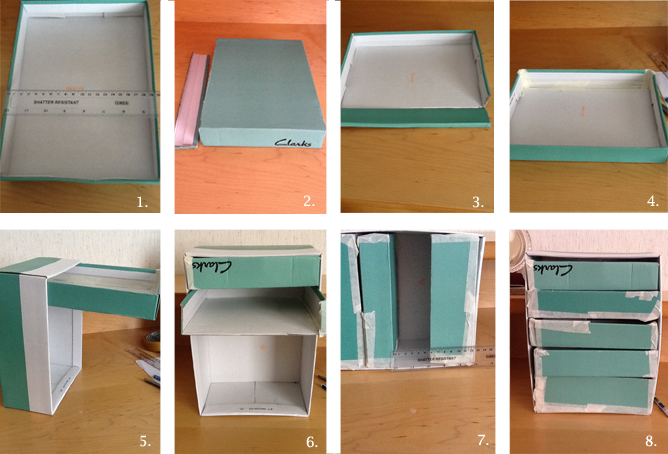 Take The Shoebox You Want To Use As The Main Skeleton Of Your Drawers.  Measure The Depth, Width And Height Of Your Box (see Fig 1) ...