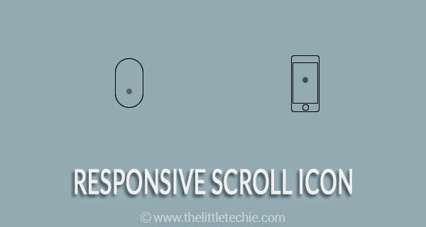 Responsive scroll icon