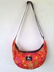 satchel orange paisley S