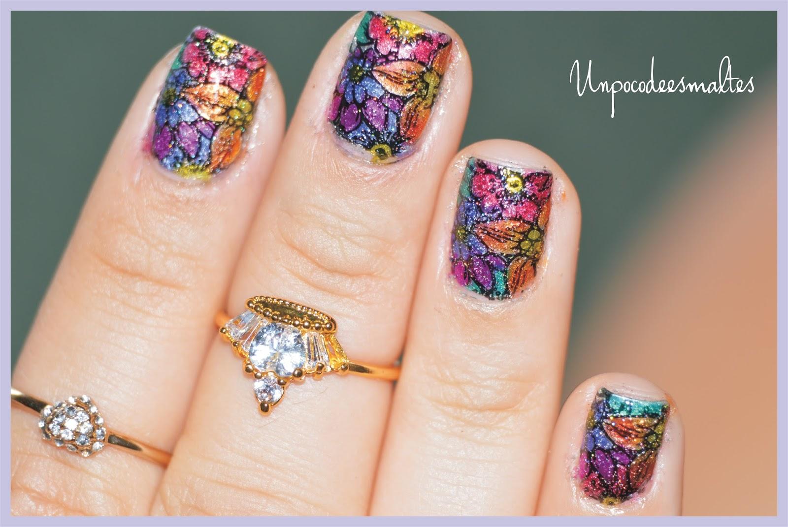 Un poco de esmaltes: Leadlight nail art
