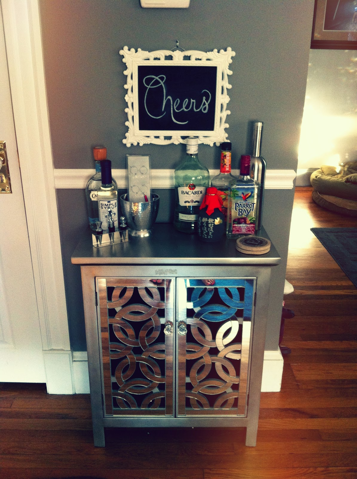 The Green Bungalow: Bar Carts & Booze Displays