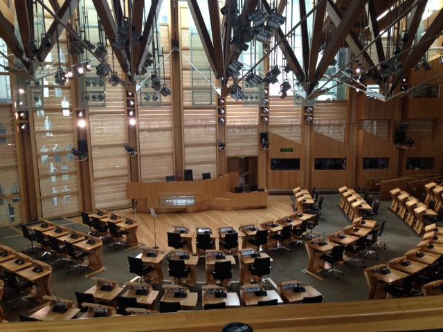 Scottish Parliament Building Debating Chamber
