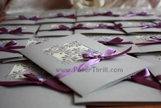 Handmade lilac daisy wedding cards