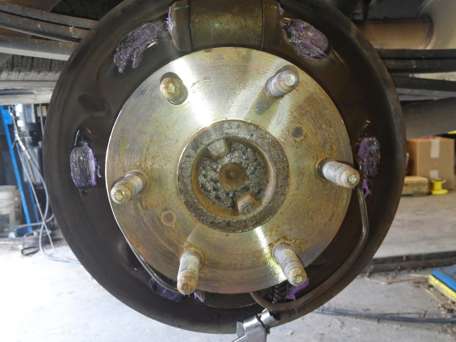 I always grease the contact points to make for a nice smooth and quiet braking experience i use caliper grease on the rear brakes and front as well