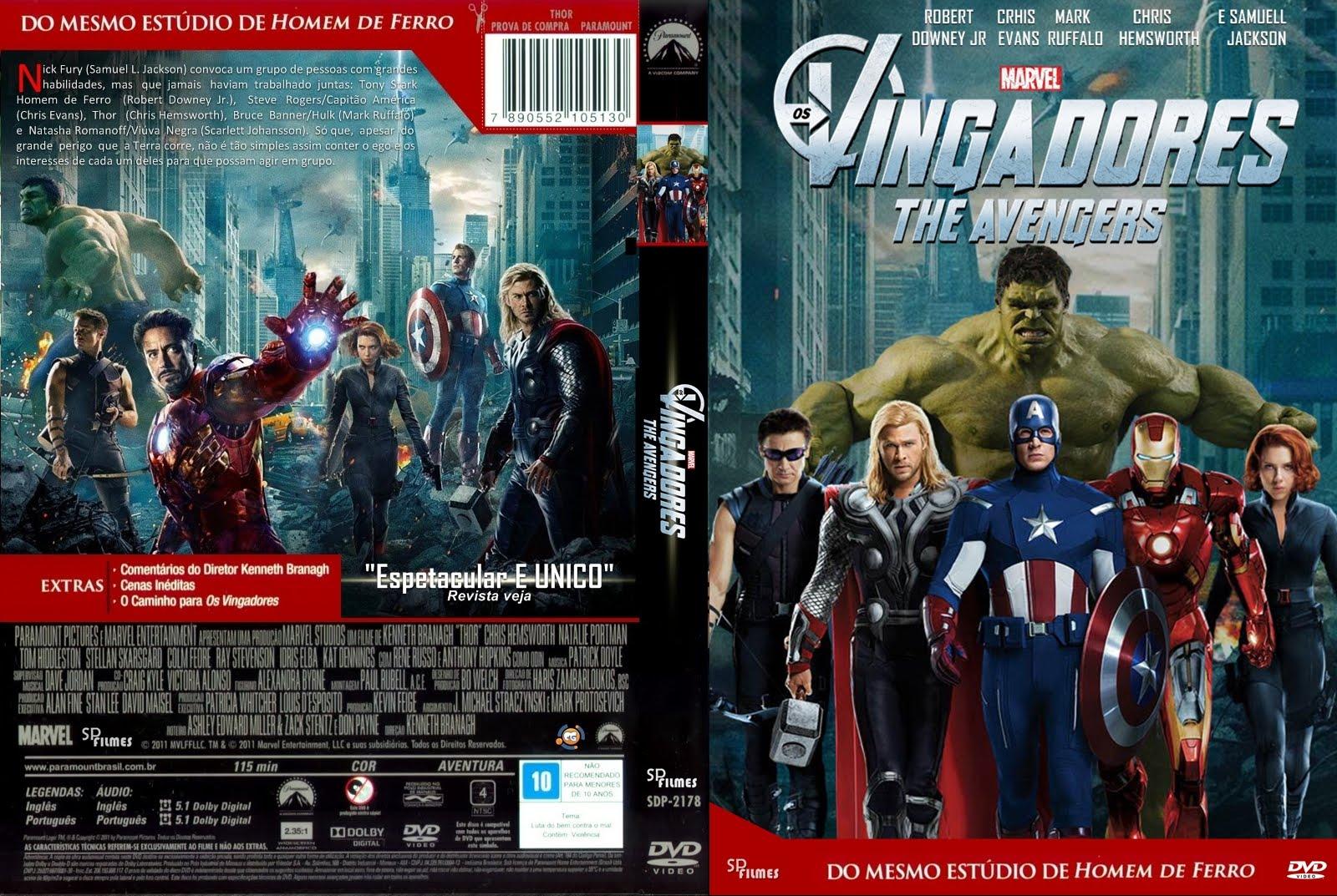 Os Vingadores DVD Capa