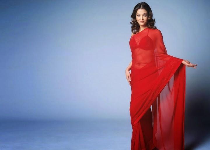 aishwarya rai hot sexy in Red saree