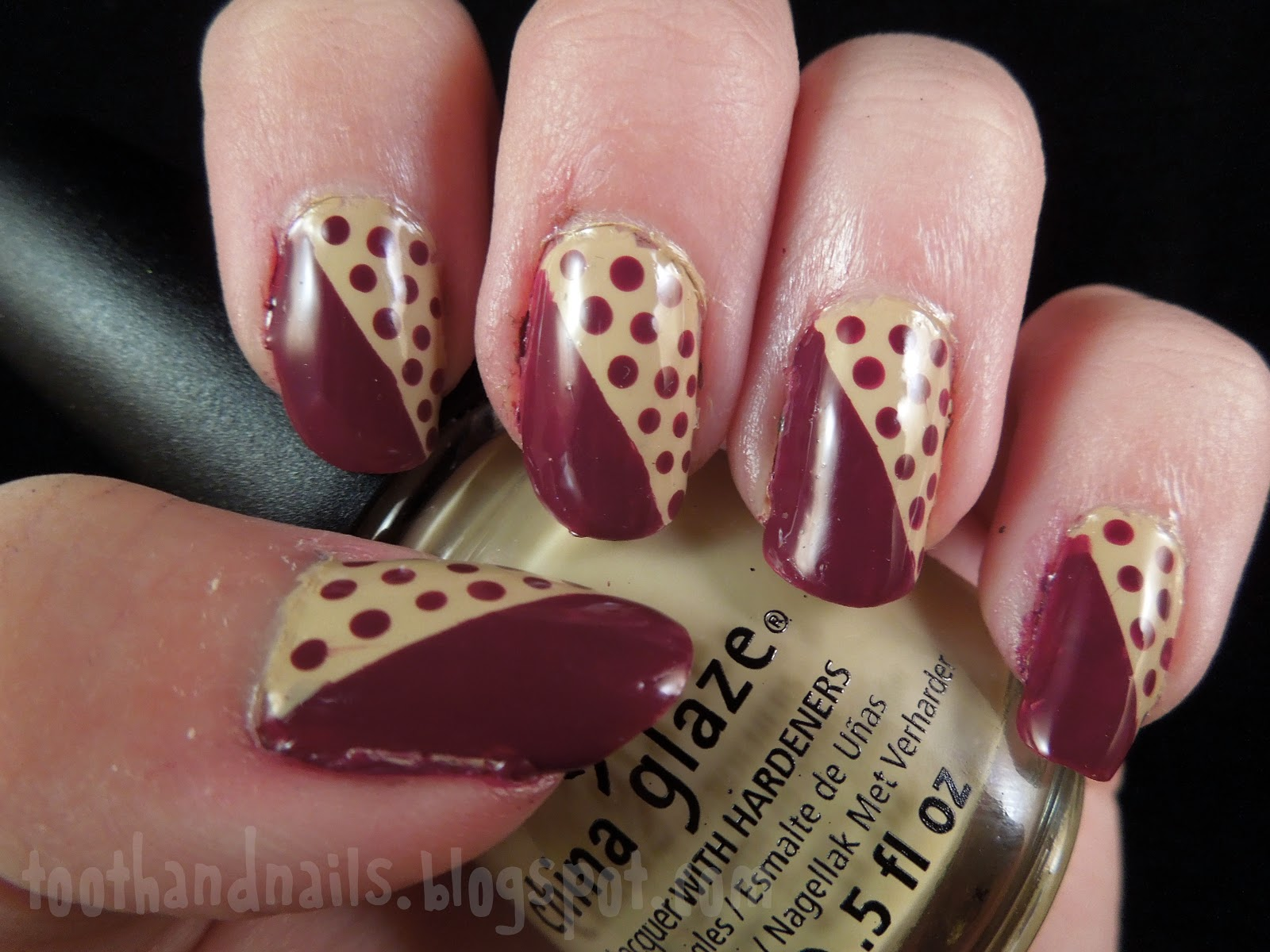 Tooth and nails nude and maroon nude and maroon prinsesfo Images