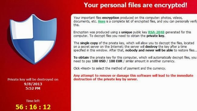 CryptoLocker Virus Removal