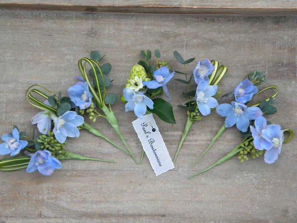 Wedding Flowers from Springwell: January 2012 Blue Hydrangea Boutonniere