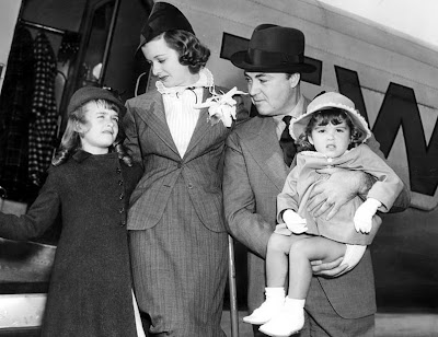 JoanBennett with Gene Markey and daughters Diana and Melinda
