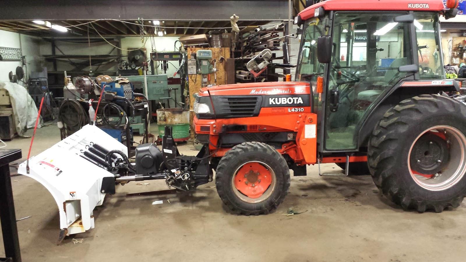 Kubota Front Mounted Blade : The greasy shop rag workshop wednesday kubota tractor