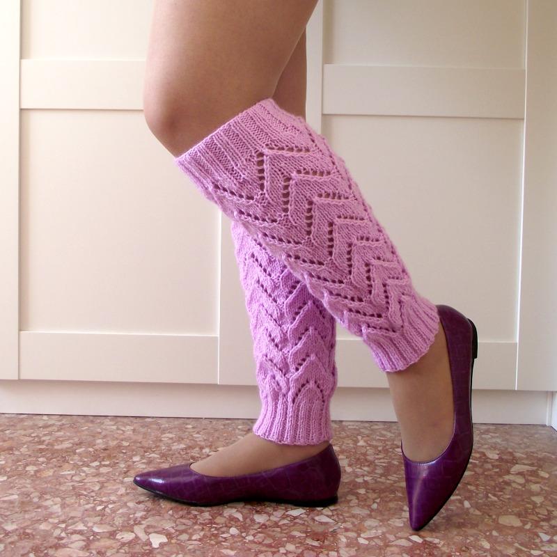 Daisy Legwarmers Knitting Pattern