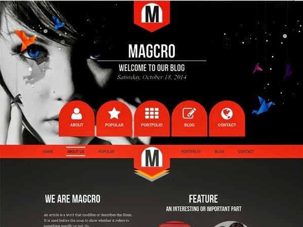 Magcro Parallax Responsive Blogger Template