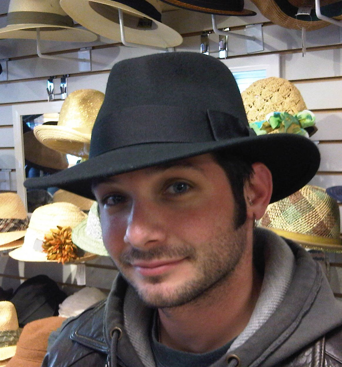fedora in black from The Hat House NY