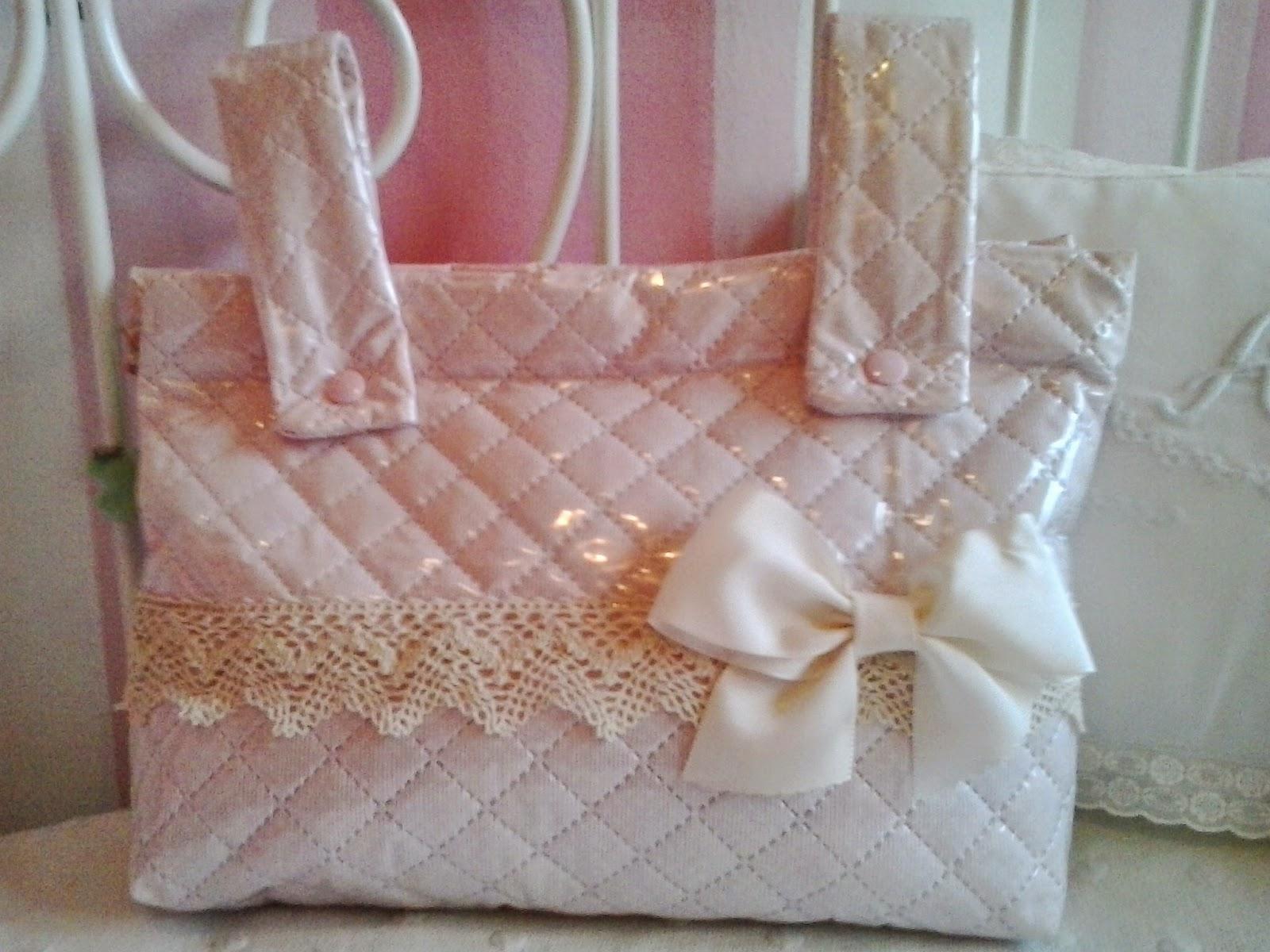 bolsa plastificada rosa para el carrito de las muñecas