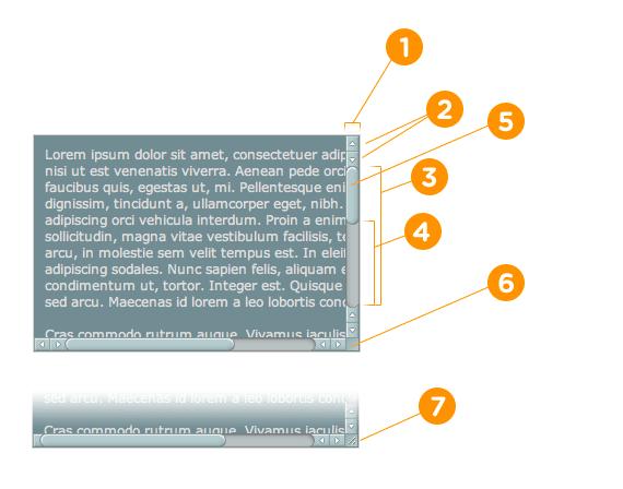 Bagian-bagian Scrollbar untuk Chrome/webkit