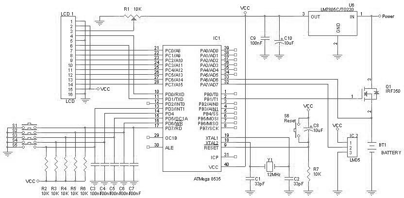 battery charger based on avr atmega 8535 ic schematics