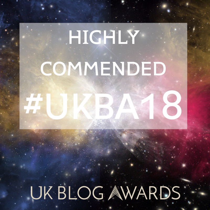 Highly commended in the UK Blog Awards 2018