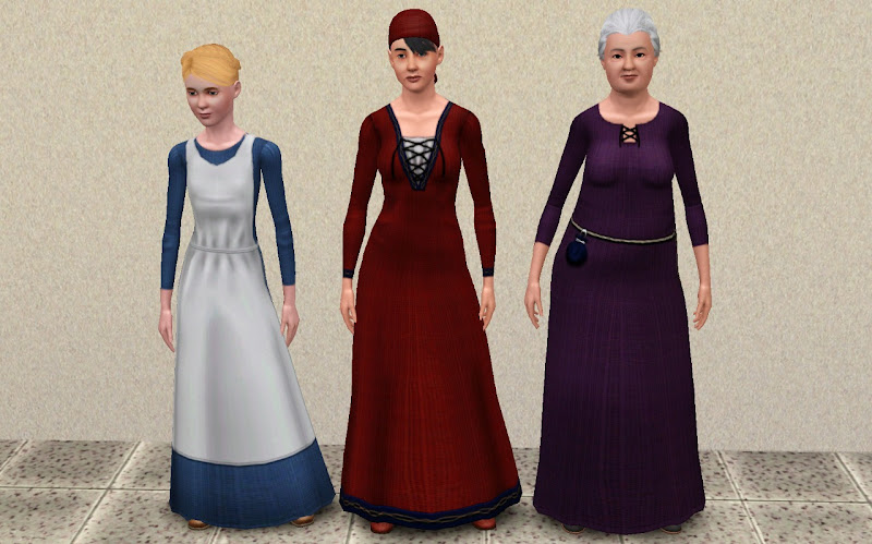 simdom garment shoppe more medieval dresses ye olde kingdom of pudding  title=