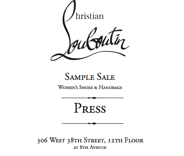 Madison Avenue Spy: Inside the Louboutin Sample Sale Today