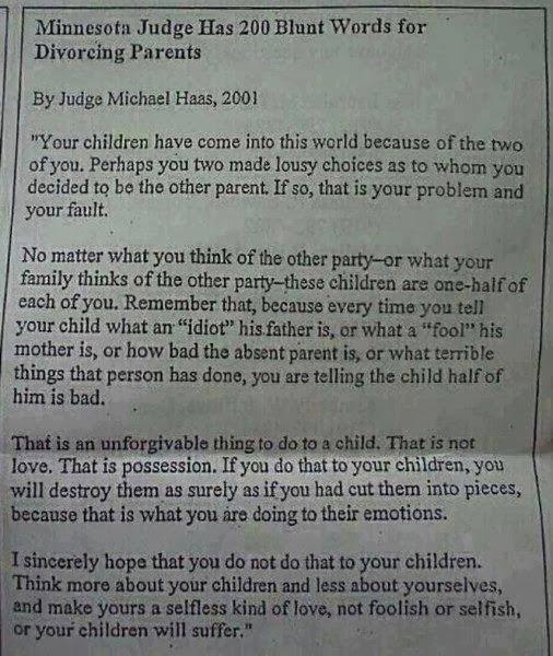 Part Ii Judge Speaks On Co Parenting
