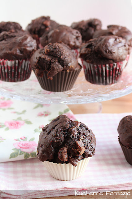 muffiny, muffinki, muffina, bardzo czekoladowe, puszyste,