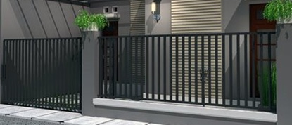 contoh gambar pagar rumah type 36