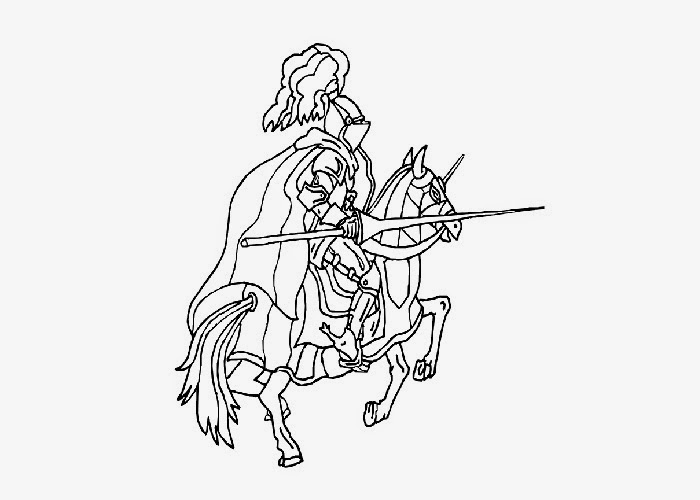 knight and horse coloring pages - photo#19