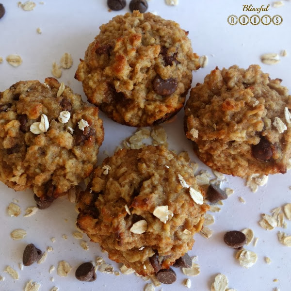 Healthy Oatmeal Muffins form Blissful Roots