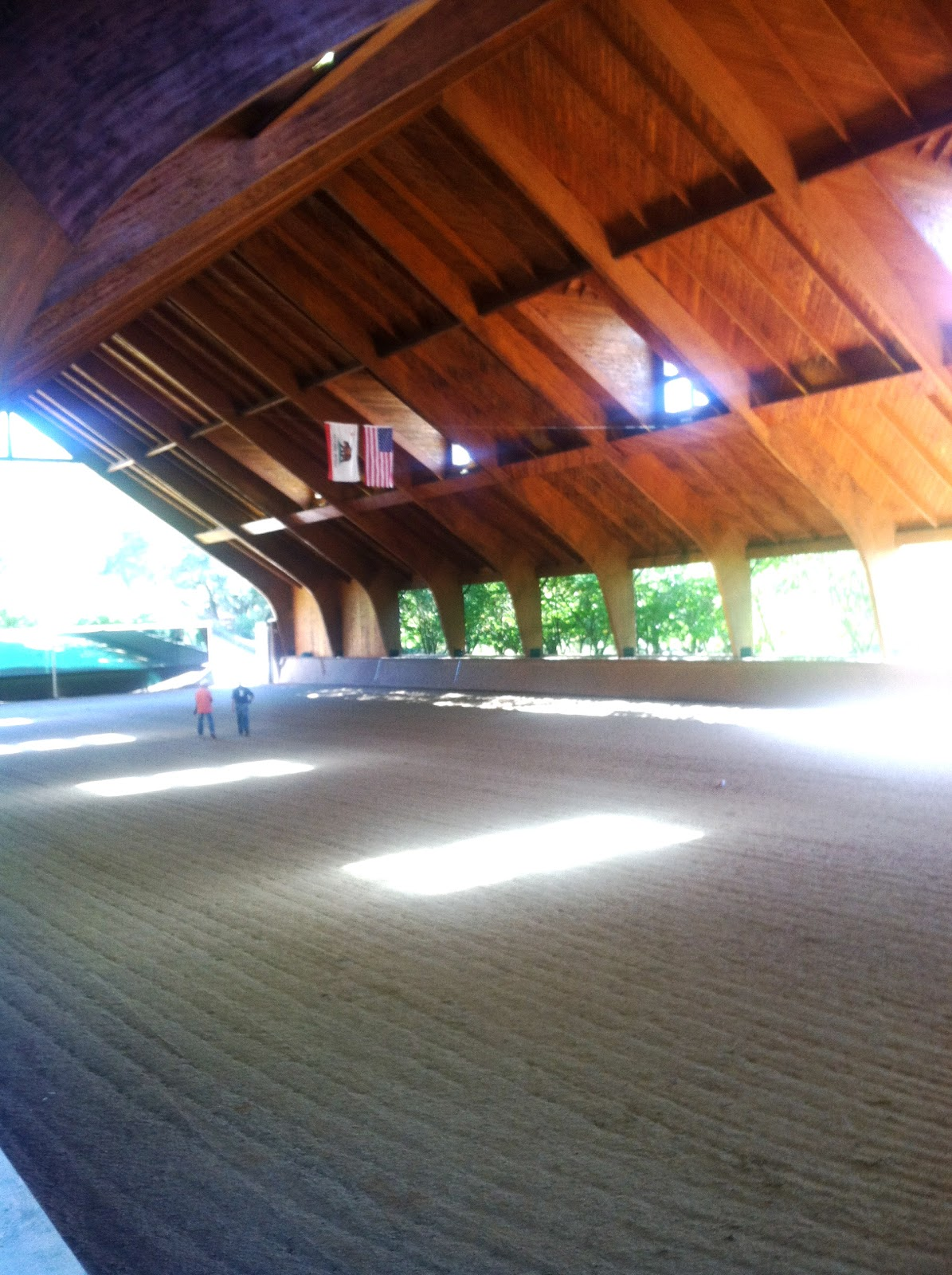 how to build a dressage arena