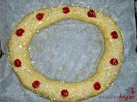 Roscón de Reyes de Trufa-masa roscón-decorando roscón