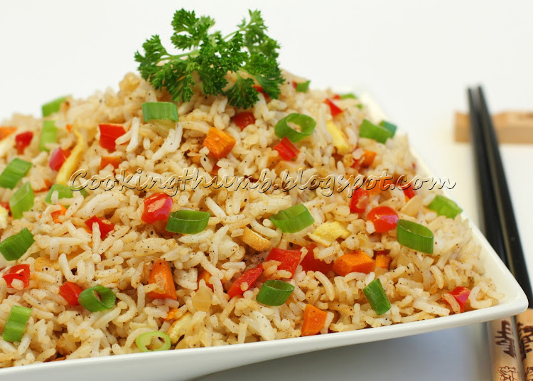 how to make plain fried rice without soy sauce