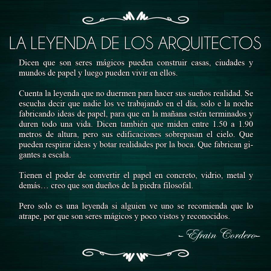 La leyenda de los arquitectos for Cuando se creo la arquitectura