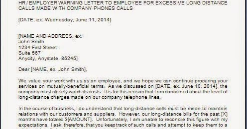 Warning Letter for Misuse of Company