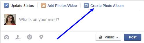 how to create high quality photo album in Facebook