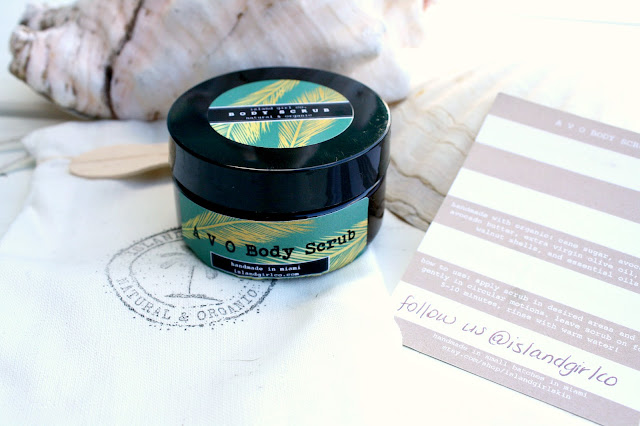 Image of the Island Girl Co. Avo Body Scrub packaging front