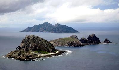 vista aerea delle isole Senkaku