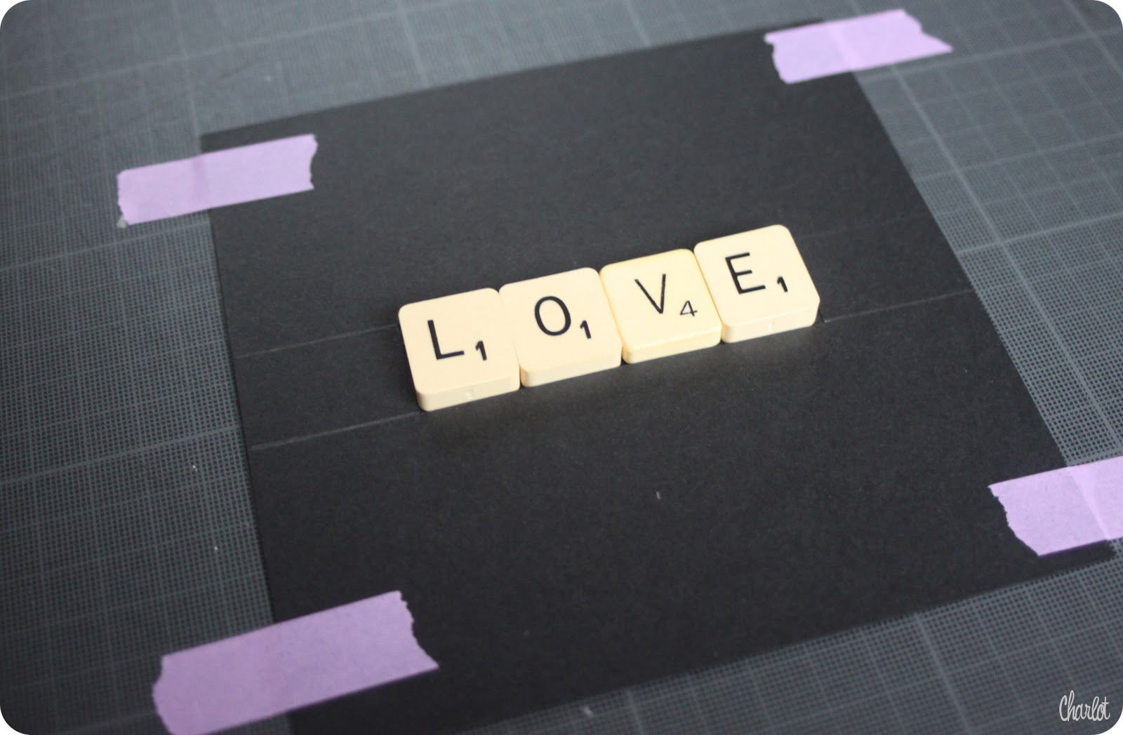 et puis la neige elle est trop molle tutoriel st valentin when love meets scrabble. Black Bedroom Furniture Sets. Home Design Ideas