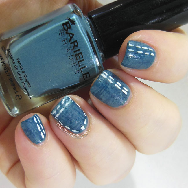 denim nail art
