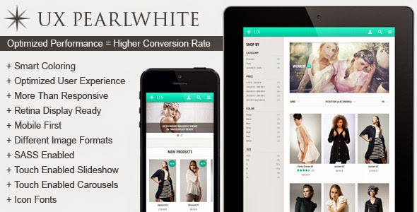 UX Pearlwhite - Fast Responsive Magento Theme